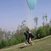 Tandem paragliding Javorový Start