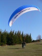 Tandem Paragliding Javorový vrch - start tandem padáku