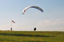 Let na tandemovém padáku na Javorovém v Beskydech