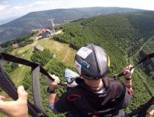 Termicky let na padaku - fotka letu nad Javorovým